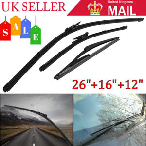 3pcs/Set Front Rear Window Wiper Blade Kit For Vauxhall Corsa D Hatchback 06-14