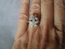 Coober Pedy Opal ring, 1.33 carats, size N/O, in 3.53 grams of 925 Sterling Sil