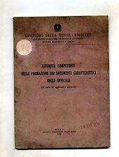 Ministero della Difesa -Esercito # AUTORITÀ FORMAZIONE DOCUMENTI UFFICIALI #1950