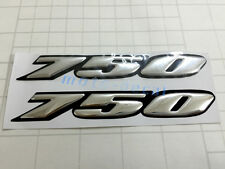 GSXR GSXR750 Raised 3D Chrome Silver Decal Emblem Fairing Sticker GSXR 750 Bling