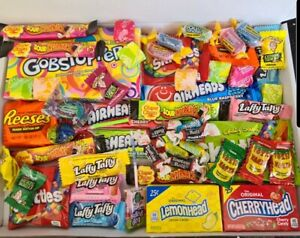 55 PERSONALISED American Sweets Gift Box USA Candy Airheads LaffyTaffy VALENTINE