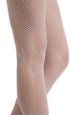 Calze Collant da Donna Leg Avenue Hosiery Nylon Fishnet Pantyhose colore White