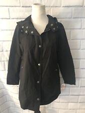 NWT Style & Co Womens Black Anorak Sz PP Coat Jacket Utility Resistant Hooded
