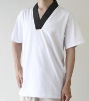 Japanese Men's Traditional Kimono inner wear T-shirt Han Juban White Navy JAPAN