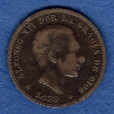 ESPAÑA: 5 CÉNTIMOS ALFONSO XII  AÑO 1879 *OM*. CECA BARCELONA. RC+. ENVIO GRATIS