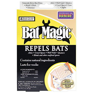 Bonide BND876 - Bat Magic Ready to Use Indoor Bat Repellent Scent Packs 4 pack