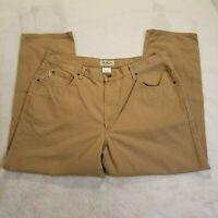 LL Bean Classic Fit Mens 40x29 Beige Khaki Pants 5 Pockets 100% Cotton 1098