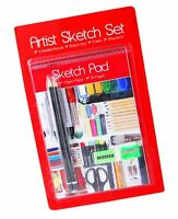 Artist's Sketch Set School Art Drawing Pencils Stationery Kids Picture Gift Pad