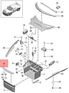 Genuine PORSCHE 911 991 Boxster Trim Lock Carrier Black 991555411001E0