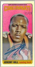 2014 Topps 65 Retro Tallboy Refractor Jeremy Hill On Card Auto Rc # 11/15 MINT!