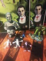Universal Monster Lot, Dracula Pop, Marx Creature, 1989 Bendys and UM Clings BIG