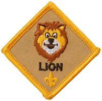 BSA GIRL BOY CUB SCOUTS DIAMOND LION RANK PATCH EMBLEM KINDERGARTEN AGE YOUTH