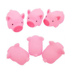 2Pcs Pink Pig Soft Animal Squishy Healing Squeeze Toy Gift Stress Reliever Decor