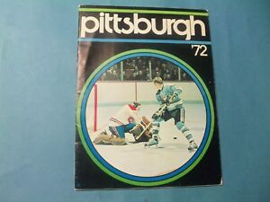 1972  Pittsburgh Penguins Yearbook  RARE hard to find yearbook