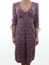 Linen Blend 3/4 Sleeve Casual Dresses Midi