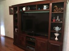 3 pc. Cherry color Entertainment Center, real wood