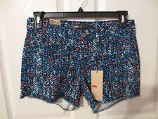 NWT - Levi's ladies cute multicolored denim shorts - sz 8 Short - MSRP $44.00