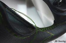 NUOVO PELLE NERA Volante Copertura Verde STITCH PER DAIHATSU TERIOS 97-05