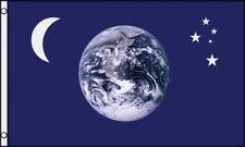 3'x5' Earth Moon And Stars Flag Banner Outdoor Planets Sky Space Astronomy 3x5