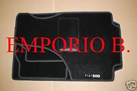 Kit Serie Tappeti Tappetini FIAT 500 Bordo NERO