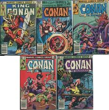 Marvel Comics Group Conan the Barbarian Comic Books (Lot of 5) UNGRADED