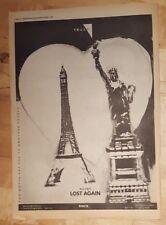Yello Lost Again 1983 Edición anuncio completo Páginas 39 x 28cm Póster