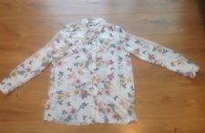 Ladies Long Sleeved Ivory, Blue Pink & Turquoise Patterned Blouse Size 12 George