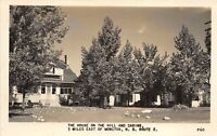 Moncton New Brunswick Canada 1949 RPPC Real Photo Postcard House On The Hill