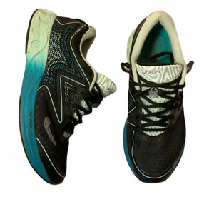 Asics Noosa FF Women's Size 8 Athletic Running Training Shoes T772N Black EUC