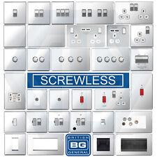 BG Nexus Polished Chrome Screwless Flatplate Switches & Sockets White Inserts