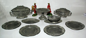 Old Part Of Service Tableware Miniature Weddings For Doll IN Pewter