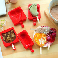 Silicone Pop Popsicle Mold Ice Cream Maker Cute Tool Frozen Ice Lolly Mould Tray