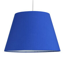 Modern 12 Tapered Blue Fabric Ceiling Pendant Light Shade Lounge Lighting Lamp