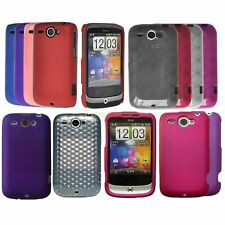 Hybrid Hard Back Case For HTC WILDFIRE G8 TPU Silicone Hydro Gel Circle Cover UK