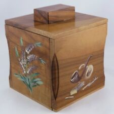 Ancien POT À TABAC / BOITE À CIGARETTE, Bois Peint, tobacco box/jar/bar/1920/30