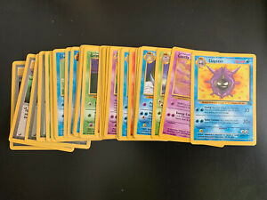 Pokemon Complete Set 32 Card Unlimited Edition FOSSIL Common & Uncommon NM/MINT