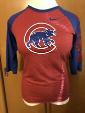 Women's Nike Chicago Cubs Red Blue Baseball Style T-shirt Size Xl New
