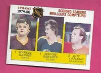 1980-81 OPC # 163 OILERS WAYNE GRETZKY SCORING  LEADERS EX-MT CARD (INV# C9584)