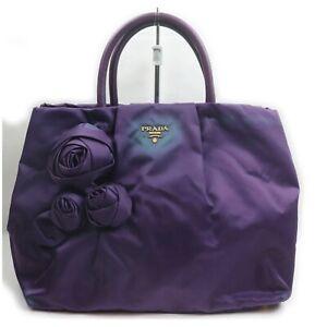 Prada Hand Bag  Purple Nylon 1513869