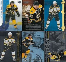 PATRICE BERGERON a lot of 6 DIFFERENTS CARDS INSERTS  LOT 91