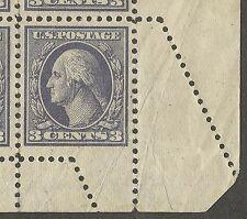 US 426 @ (1914) OGph {George Washington} EFO: ERROR: Fold over/Crazy Perf