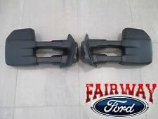 15 thru 18 F-150 OEM Genuine Ford Manual Telescopic Trailer Tow Mirrors PAIR
