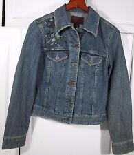 "~ Calvin Klein Jeans ~ Womens LARGE L denim jacket jean coat with ""Bling""!"