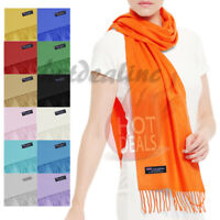 Men Women 100% CASHMERE Plain Scarves Winter Warm Scarf Made in Scotland