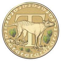 2016 Fair Dinkum Aussie Alphabet Letter T Tasmanian Tiger $1 One Dollar UNC RAM
