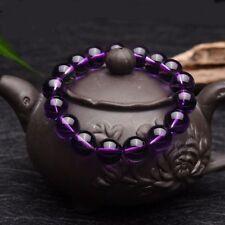 Genuine 8mm Gemstone Round Natural Amethyst Bracelet Beads Buddha Beads Jewelry