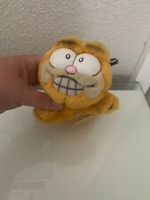 """Vintage Garfield 1987 1981 Small Plush Toy Collectable 6"""" Retro Cute Suction Car"""
