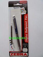 Zebra Telescopic Stylus Ballpoint Pen iPad Tablet Smartphone Navy with Black Ink