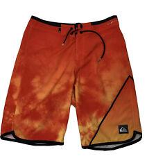 Quiksilver Dry Flight Water Repellant Highline Oange Tie Dye board shorts 30