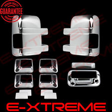 FOR FORD F-250/F-350 08-16 CHROME MIRROR+DOOR HANDLE+TAILGATE COVER W/ CAM